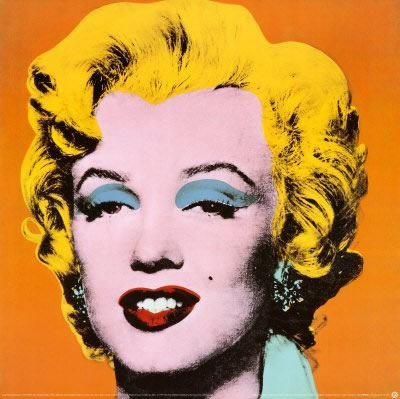 Marilyn Monroe, Orange by artist Andy Warhol