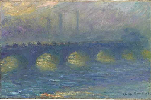 Waterloo Bridge, temps couvert by artist Claude Monet
