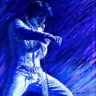 Blue Elvis by artist Rolf Harris