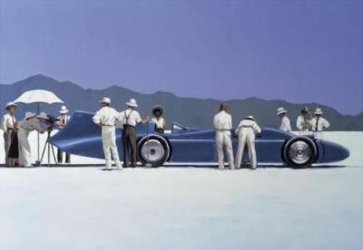 Bluebird At Bonneville by artist Jack Vettriano