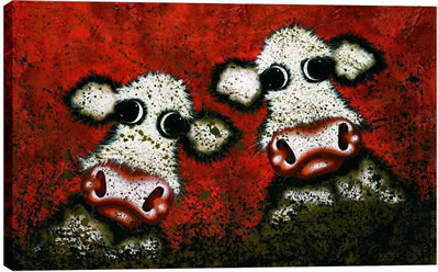 Dirty Cows by artist Caroline Shotton