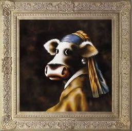 The Cow With The Pearl Earring by artist Caroline Shotton