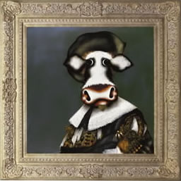 The Laughing Cowvalier by artist Caroline Shotton