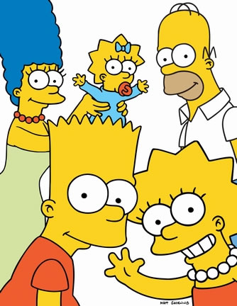 The Simpsons: Marge, Maggie, Homer, Bart & Lisa