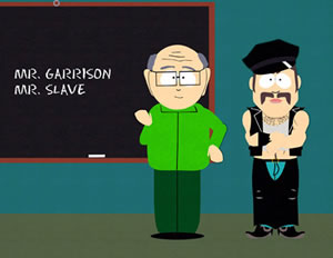 Mr. Garrison & friend from Southpark